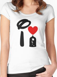 I Heart Beauty and The Beast Women's Fitted Scoop T-Shirt
