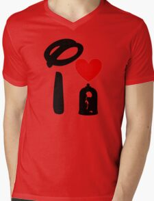 I Heart Beauty and The Beast Mens V-Neck T-Shirt