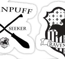 Ravenpuff Crests and Team Stickers Sticker