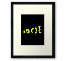 Evolution Alien Framed Print