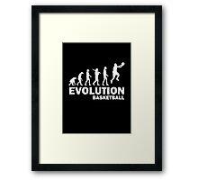 Evolution Basketball Framed Print