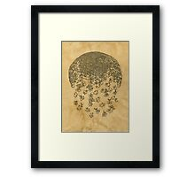 negative future coffee, ink  Framed Print