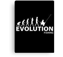 Evolution Fishing Canvas Print