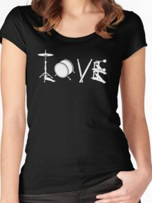 Love Drum Women's Fitted Scoop T-Shirt