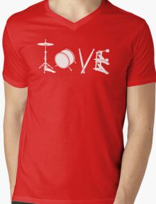 Love Drum Mens V-Neck T-Shirt