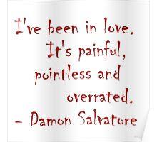 Damon Salvatore Quote Poster