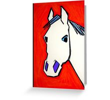 white horse proud horse Greeting Card