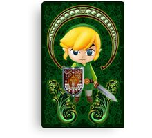 Cute Link Egg Head Canvas Print