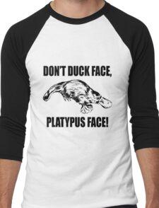 Platypus Face Men's Baseball ¾ T-Shirt