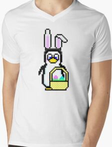 Easter Penguin Mens V-Neck T-Shirt