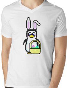Easter Penguin Mens V-Neck T-Shirt