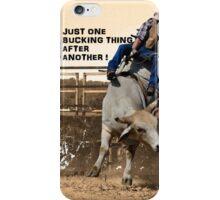 ONE BUCKING THING iPhone Case/Skin