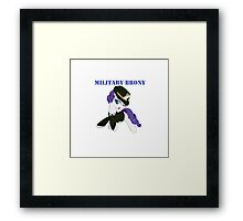 1AP Rarity Military Brony Framed Print
