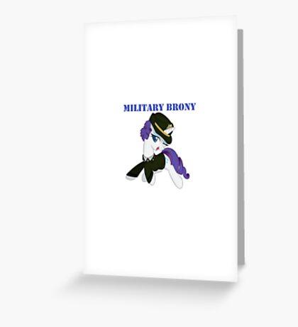 1AP Rarity Military Brony Greeting Card