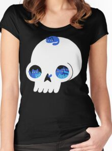 Skull Full Of Cats Women's Fitted Scoop T-Shirt