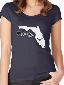 Cute Florida Women's Fitted Scoop T-Shirt