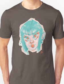 Teal Face Unisex T-Shirt