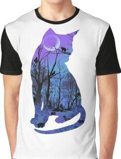 CAT MOON Graphic T-Shirt