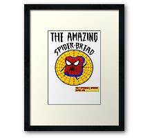 THE AMAZING SPIDER-BREAD by Notorious Gaming (I Am Bread) Framed Print