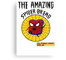 THE AMAZING SPIDER-BREAD by Notorious Gaming (I Am Bread) Canvas Print