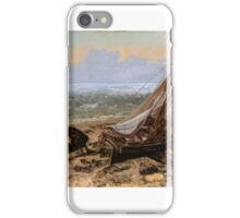 Gustave Courbet - The Fishing Boat  iPhone Case/Skin