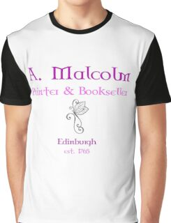 A. Malcolm Printer & Bookseller Graphic T-Shirt