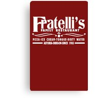 The Goonies Movie - Fratelli's Restaurant Canvas Print