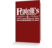 The Goonies Movie - Fratelli's Restaurant Greeting Card