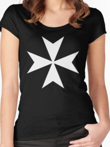 Cross of the Knights Hospitaller Women's Fitted Scoop T-Shirt