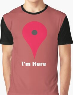 I'm Here Maps Graphic T-Shirt
