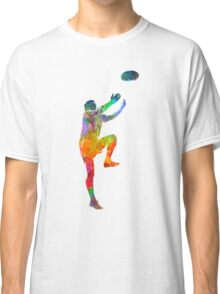 Rugby man player 05 in watercolor Classic T-Shirt