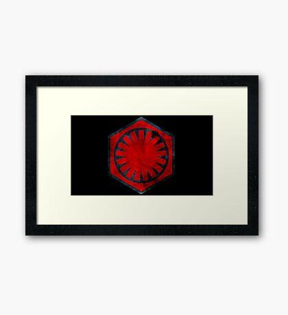 The First Order Emblem Framed Print