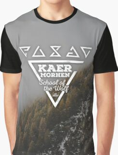Kaer Morhen - School of the Wolf | Witcher Design Graphic T-Shirt
