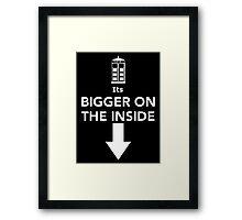 Its Bigger On The Inside Framed Print
