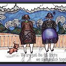 Fat thighs gift card by Jenny Wood