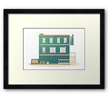 Western Hotel Framed Print