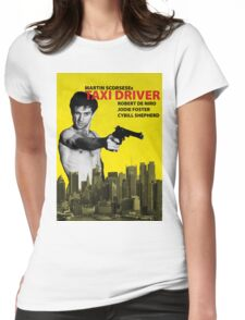 Taxi Driver Poster Travis Bickle Womens Fitted T-Shirt
