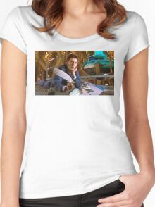 DRAW ME LIKE ONE OF YOUR ORGANIC CARBON BASED FEMALES OF FRENCH ORIGIN!!! Women's Fitted Scoop T-Shirt