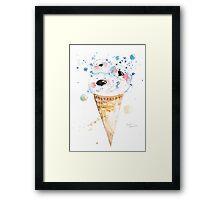 Ice bear sweets Framed Print