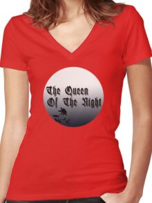 The Queen of the Night Women's Fitted V-Neck T-Shirt