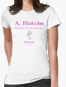 A. Malcolm Printer & Bookseller Womens Fitted T-Shirt