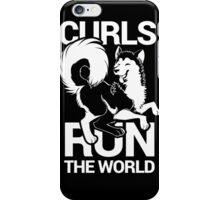 CURLS RUN THE WORLD iPhone Case/Skin