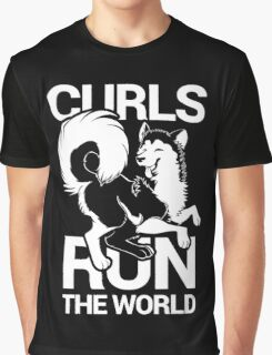 CURLS RUN THE WORLD Graphic T-Shirt