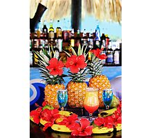 Tropical colourful cocktails Photographic Print