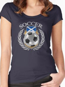 Scotland Soccer 2016 Fan Gear Women's Fitted Scoop T-Shirt