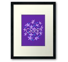 Grrr - Purple Flowers Explosion Framed Print