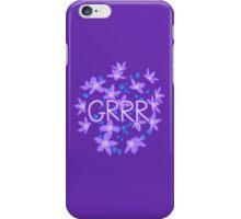 Grrr - Purple Flowers Explosion iPhone Case/Skin