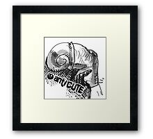 snail nose ugly character cartoon style illustration Framed Print