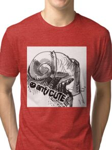 snail nose ugly character cartoon style illustration Tri-blend T-Shirt