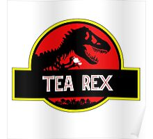 Tea Rex Coffee Relax Poster